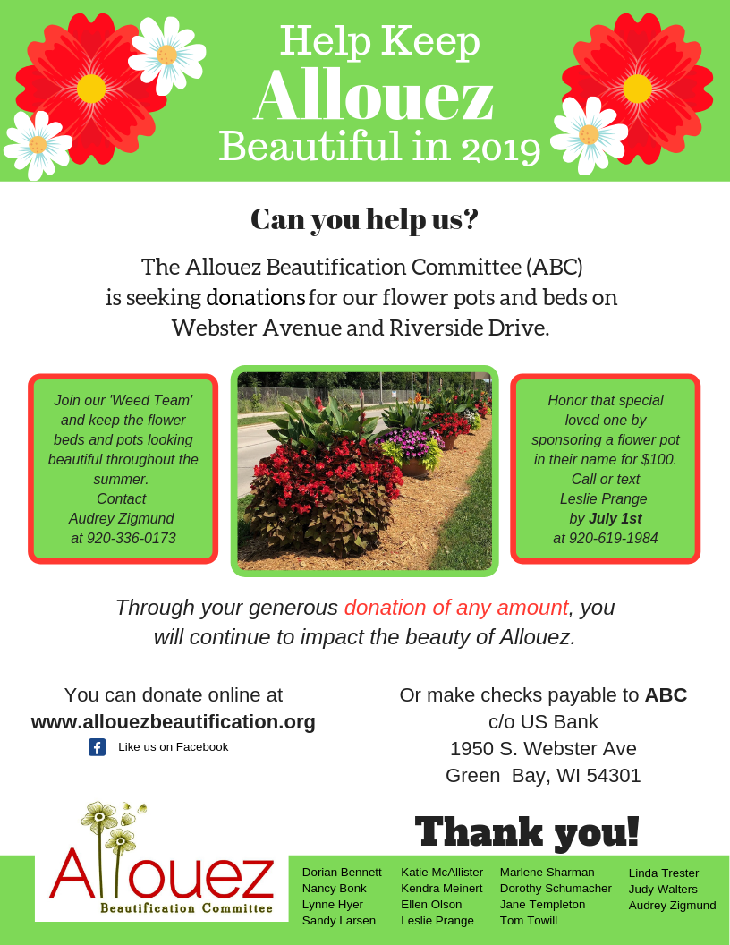 Help Keep Allouez Beautiful 2019